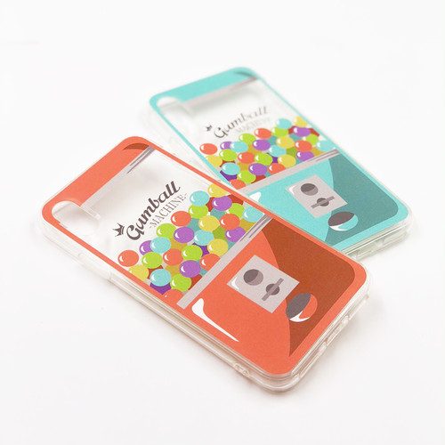 "TPU CASE ""GUMBALL MACHINE"" for iPhoneXS/iPhoneX"
