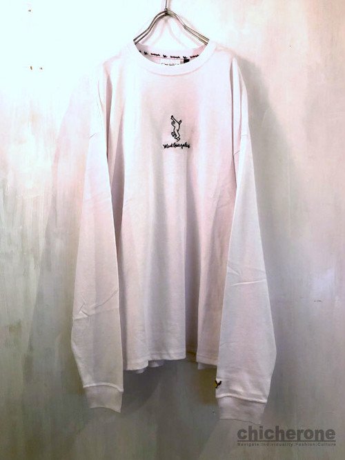 【MARK GONZALES】EMBROIDERY LT/S WHITE