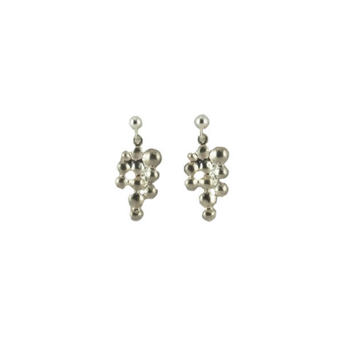 Light_Shizuku(Silver) Pierced Earrings