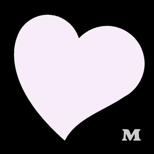 ハート型B(M)★ライトピンク