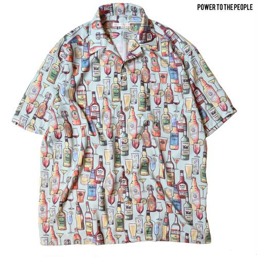 <BOTTLE柄>総柄開襟シャツ NO1501029