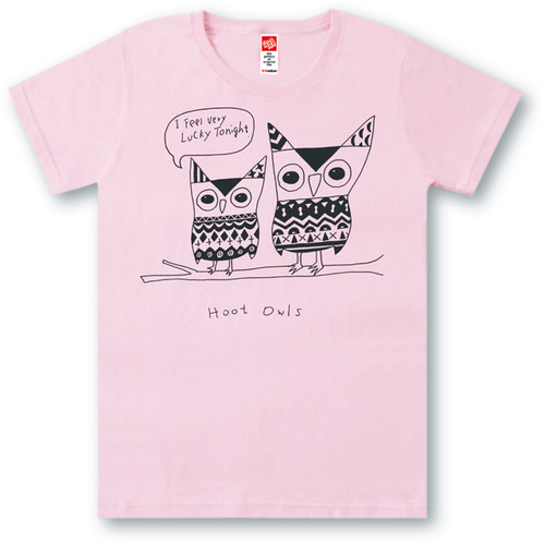 #451 Tシャツ HOOT OWLS/PNK