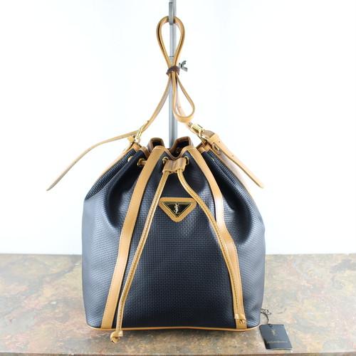 .YVES SAINT LAURENT LOGO DRAWSTRING SHOULDER BAG/イヴサンローラン巾着ショルダーバッグ 2000000053684