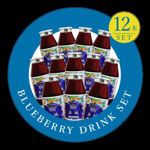 ブルーベリードリンク「赤城」25%果汁[12本セット]