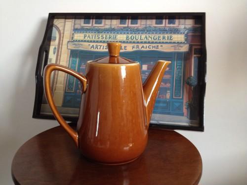 フランスアンティーク 素焼きポット 茶