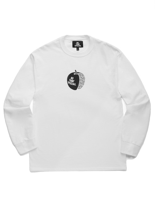NOTHIN'SPECIAL / APPLE LONG SLEEVE -WHITE-