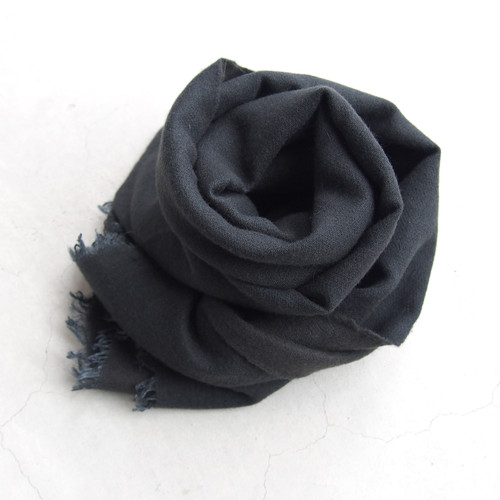 gesture SILK×WOOL stole CHARCOAL GRAY