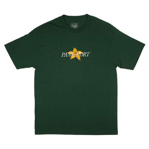 PASS PORT (パスポート) / DAFFODIL APPLIQUE TEE -FOREST GREEN-