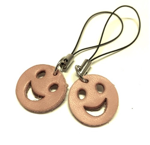 """Mobile Phone LeatherCharm(Smile)""【Eighteen Leather(エイティーン・レザー)】"