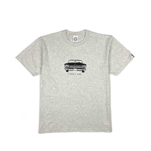 TAKE CARE MESSAGE TEE / ASH