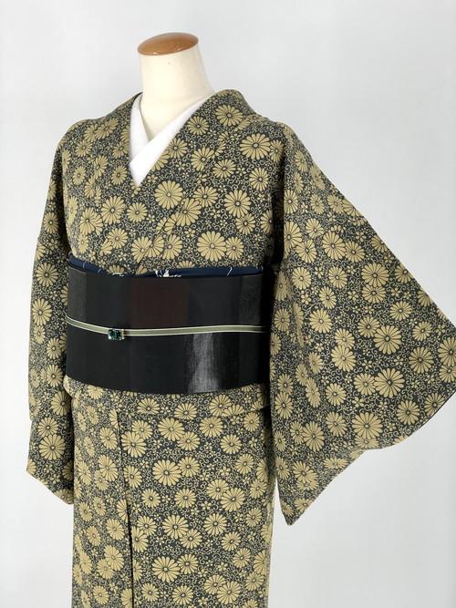 小紋 袷着物 着物 きもの カジュアル着物 仕立て上がり 送料無料 リサイクル着物 中古 身丈149.5cm 裄丈61cm