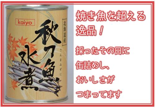 秋刀魚水煮 缶詰 400g