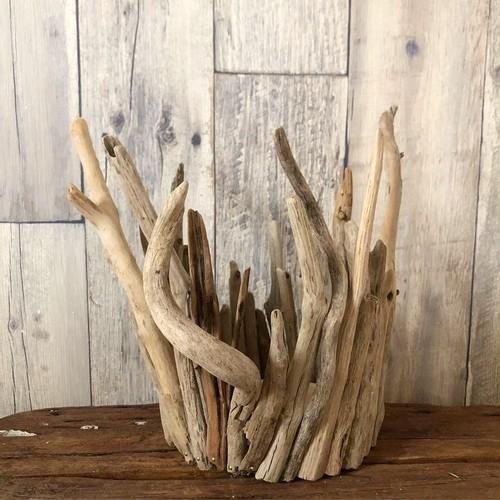 流木 花器 Lサイズ(#35) フラワーベース 鉢カバー