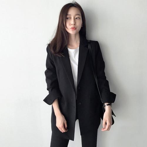 ブラックジャケット☆シングル☆レディース☆人気☆スプリングコート☆新作☆2018