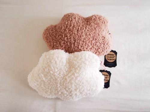 ふわふわ雲のクッション【ミニサイズ】 ホワイト/ピンク