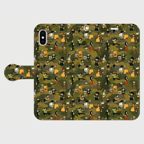 手帳型スマートフォンケース ROOM810 迷彩柄