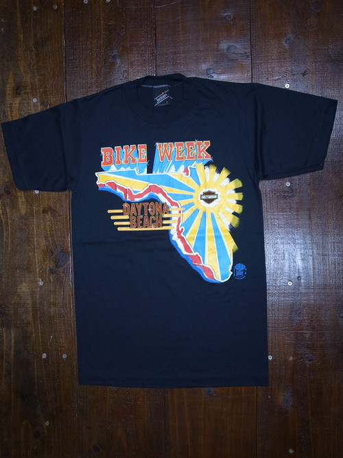 80's Jantzen Harley-Davidson T-Shirts(黒)DEAD STOCK ③