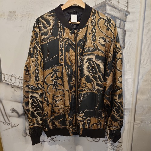 design silk zip up jacket