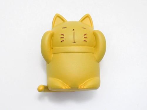 【08】 筒隠月子 小物パーツ 笑わない猫像 キューポッシュ