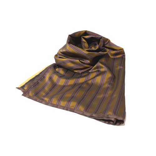 Enharmonic TAVERN Stripe Big Stole -beige <LSD-AH3AC6>