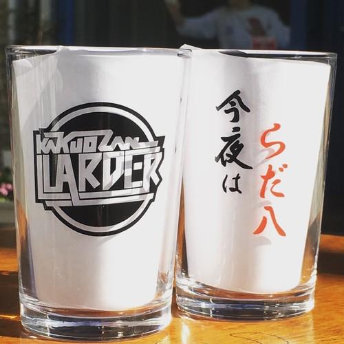 """""""今夜はらだ八""""&""""LARDER""""ロゴ グラスセット"""