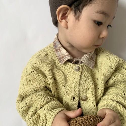 【即納】monbebe sukashi knit cardigan
