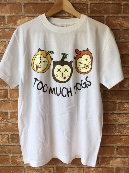 TOO MUCH DOGS TEE(L)