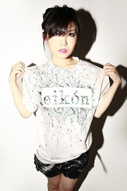 """スプラッシュペイントTシャツ""""eikón""""(ホワイト)/ F.r.W.D"""
