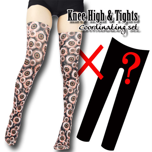 Set sales★<0530充血目玉/0530 hyperemia eyeballs>Selectable knee high socks & Tights!