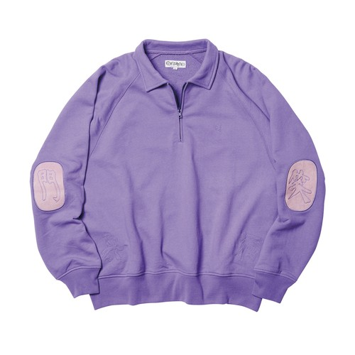 EVISEN FUKUWARAI ZIP SWEAT Purple
