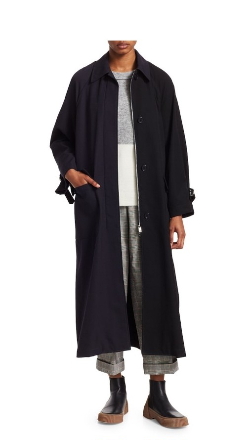 3.1 PHILLIP LIM Oversized Wool Trench Coat