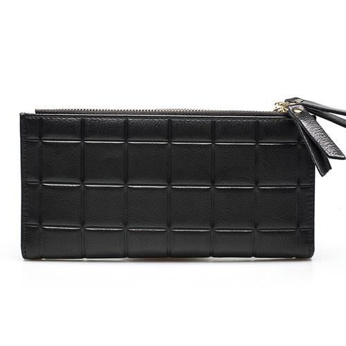 PU Leather Wallet Long Wallet Clutch Zipper ロング レザー 財布 パスケース ウォレット (HF99-2197373)