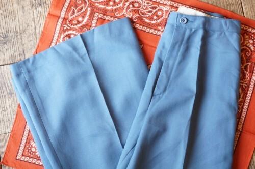 70's N.O.S. ash blue wide Pants