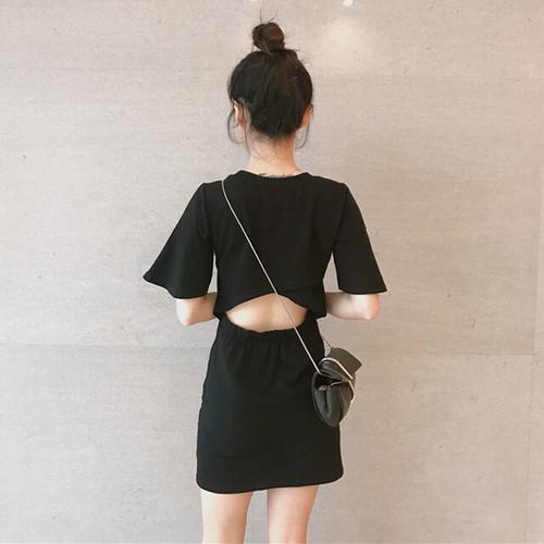 【ワンピース】ファッション透かし彫りプルオーバーワンピース26473942