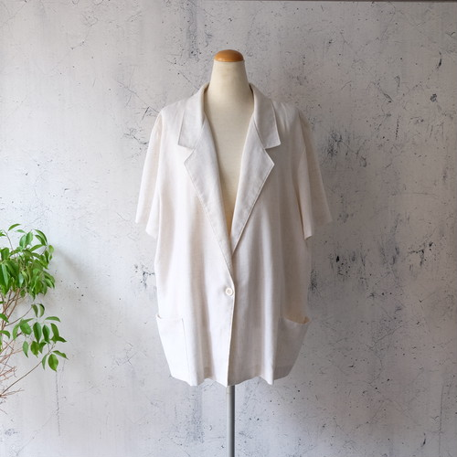 s/s white uncon tailored jacket