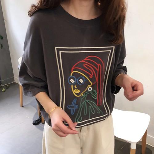 【トップス】春新作プリントファッションラウンドネックTシャツ