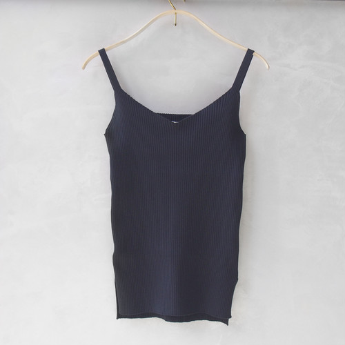 <30%OFF>AURALEE SUPERFINE HIGH GAUGE RIB KNIT CAMISOLE NAVY