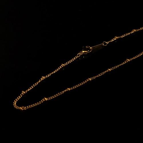 Crimp Bead chain 40/45cm
