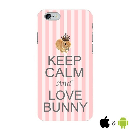 【KEEP CALM and LOVE BUNNY】ピンク