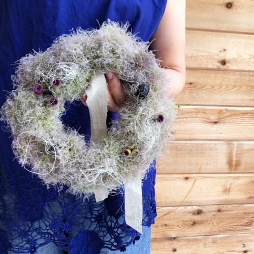"hiba ""smoke Tree wreath"" スモークツリーのリース"