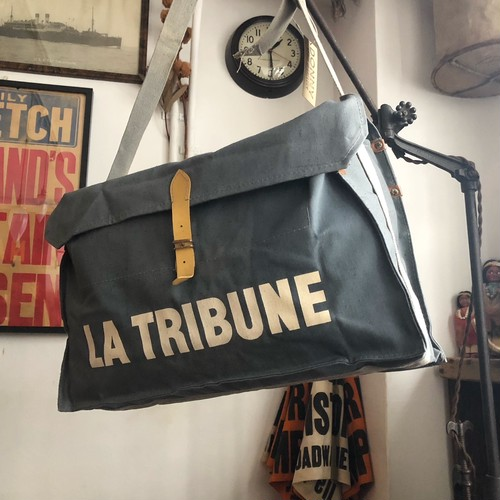Vintage 「La Tribune」 French Newspaper Bag Dead Stock