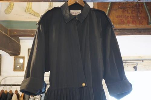 80's black hi-waist Jumpsuit w/gold Buttons