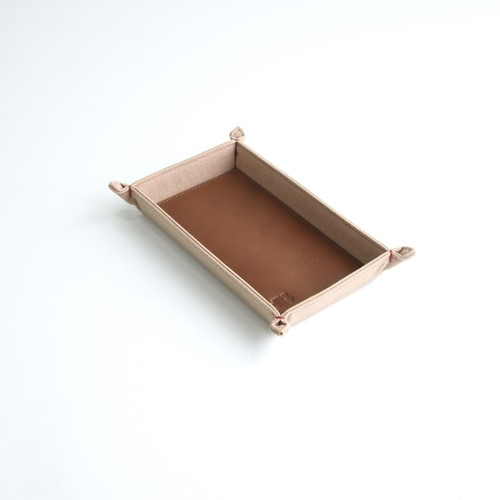 CANVAS CASH TRAY / PINK BEIGE
