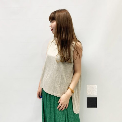 OUTERSUNSET(アウターサンセット) shoulder tuck tank 2020春物新作 [送料無料]