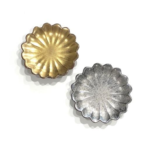 金・銀  七宝菊型 お手塩皿