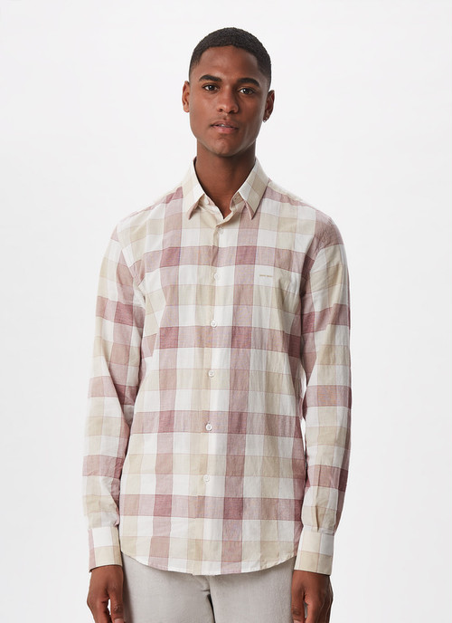 CHECKED SHIRT WITH HIDDEN BUTTON