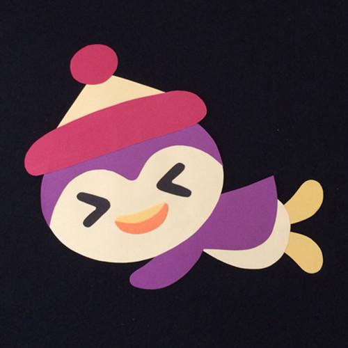 ペンギン(赤帽子)の壁面装飾