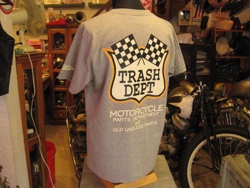 TRASH DEPT オリジナルTシャツ タイプDグレー