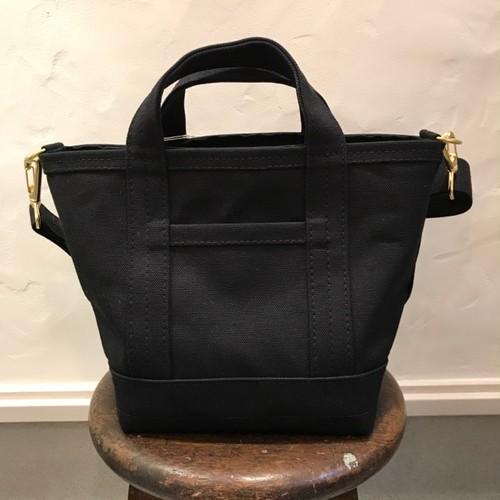 All Cotton Tote Bag Zip- Top BK/FUKAYA KABAN STUDIO