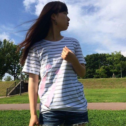メリーポピンズ (グレーボーダー 半袖Tシャツ)